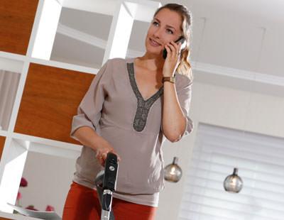 Ein Zentralstaubsauger ist sehr leise, weil das Gerät weit weg installiert ist.