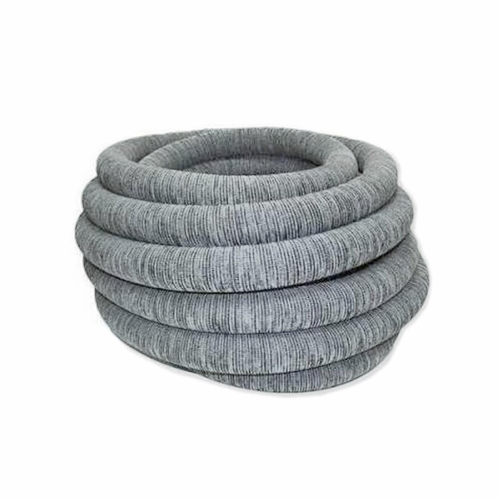 Stoffüberzug grau