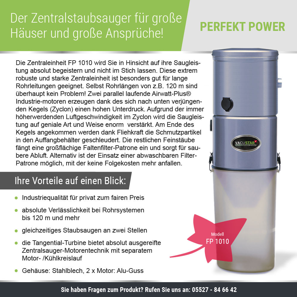 PERFEKT-POWER FP 1010 - Bausatz mit 5 Saugdosen